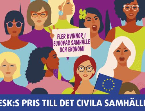EESK:s flaggskeppspris till det civila samhället 2019