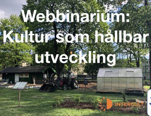 WEBBINARIUM: KULTURENS ROLL I, FÖR ELLER SOM HÅLLBAR UTVECKLING