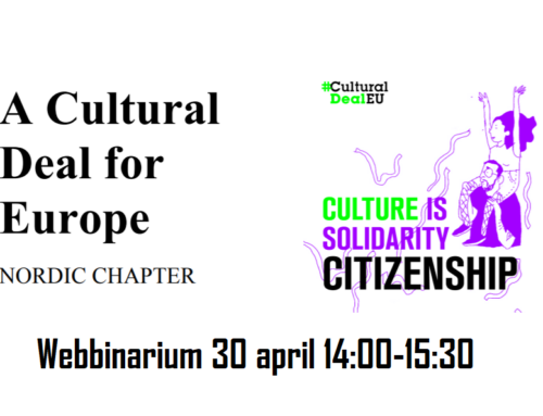 Panelsamtal Cultural Deal for Europe – the Nordic Chapter