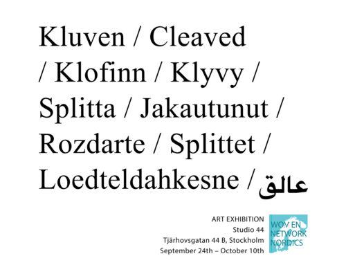Woven Network Nordics: 'Kluven'  har öppnat